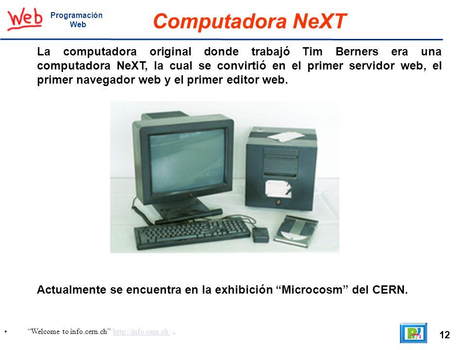 ProgramaciónWeb. Computadora NeXT.