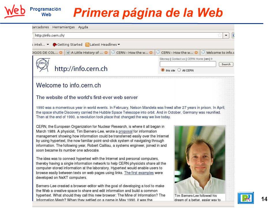 Primera página de la Web
