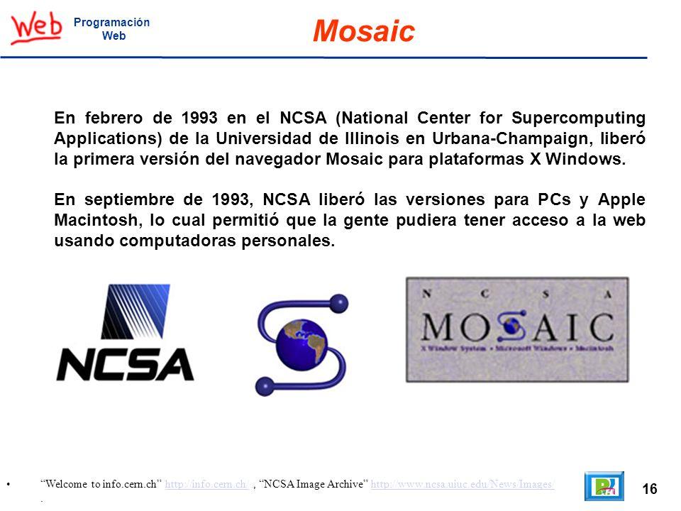 Programación Web. Mosaic.