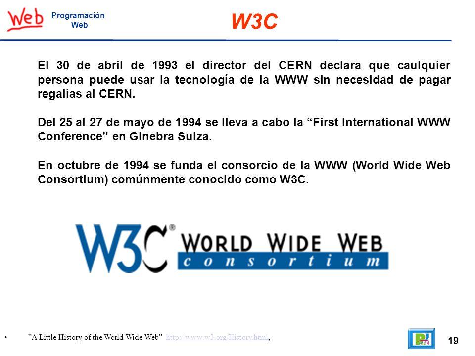 Programación Web. W3C.