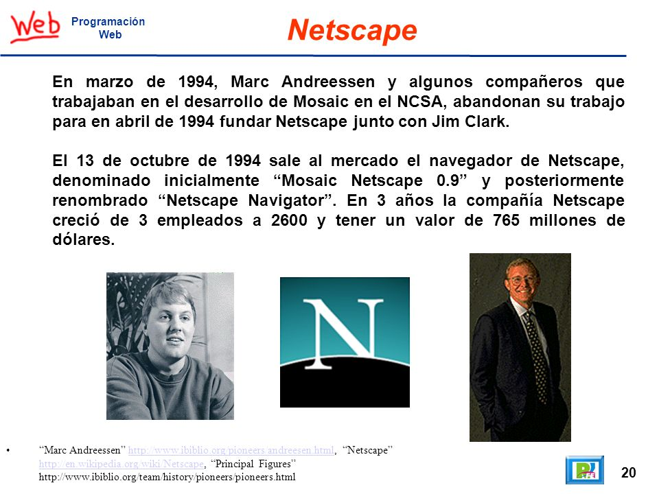 ProgramaciónWeb. Netscape.