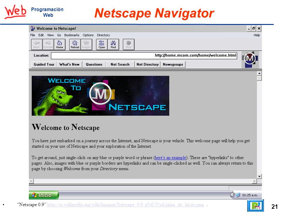 Netscape Navigator 21 Programación Web