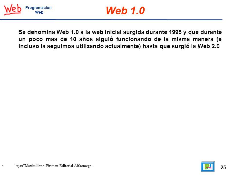 Programación Web. Web 1.0.