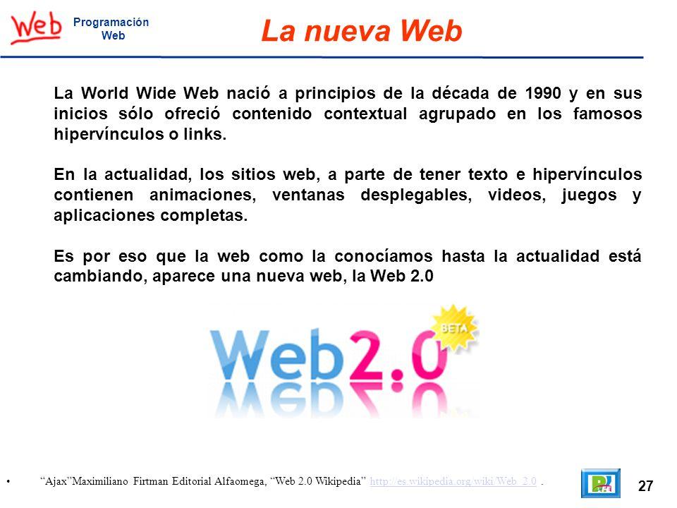 Programación Web. La nueva Web.