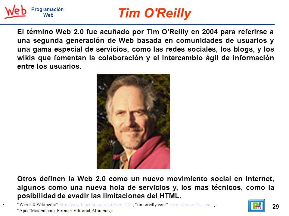 Programación Web. Tim O Reilly.