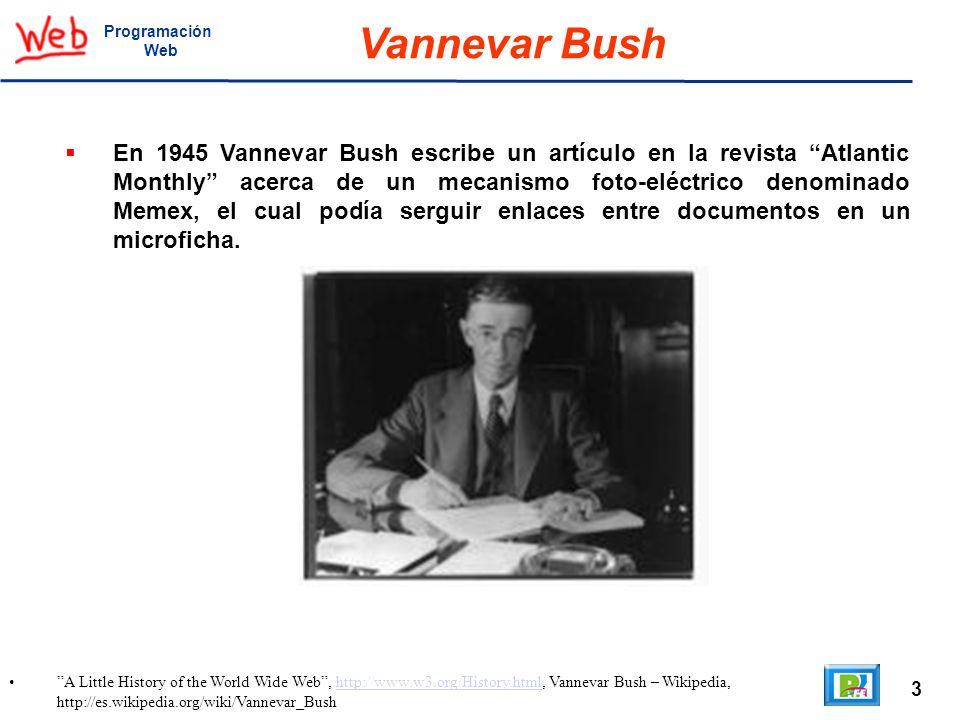 Programación Web. Vannevar Bush.