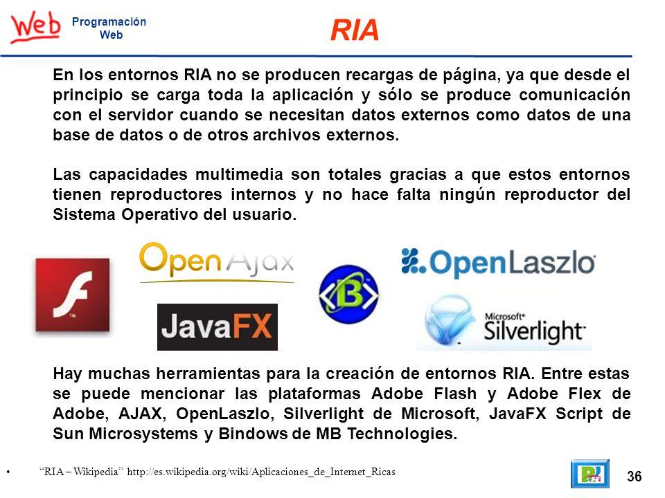 ProgramaciónWeb. RIA.