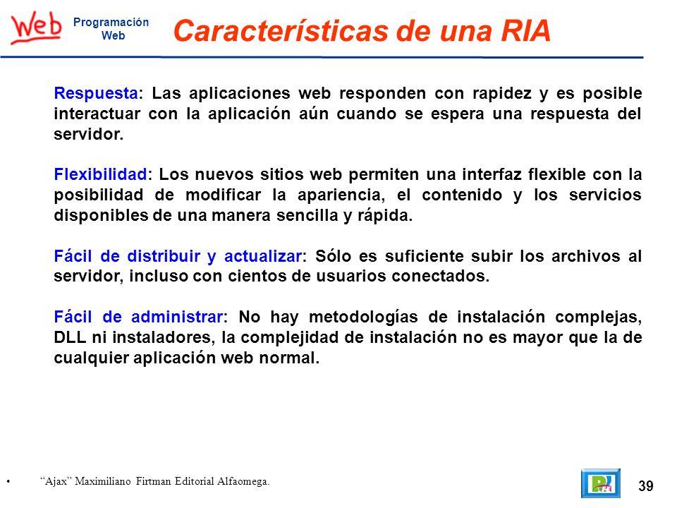 Características de una RIA