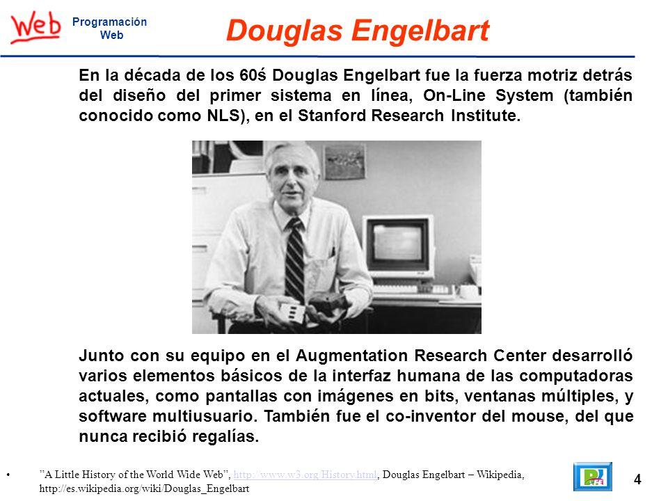 ProgramaciónWeb. Douglas Engelbart.