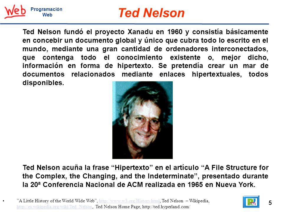 ProgramaciónWeb. Ted Nelson.