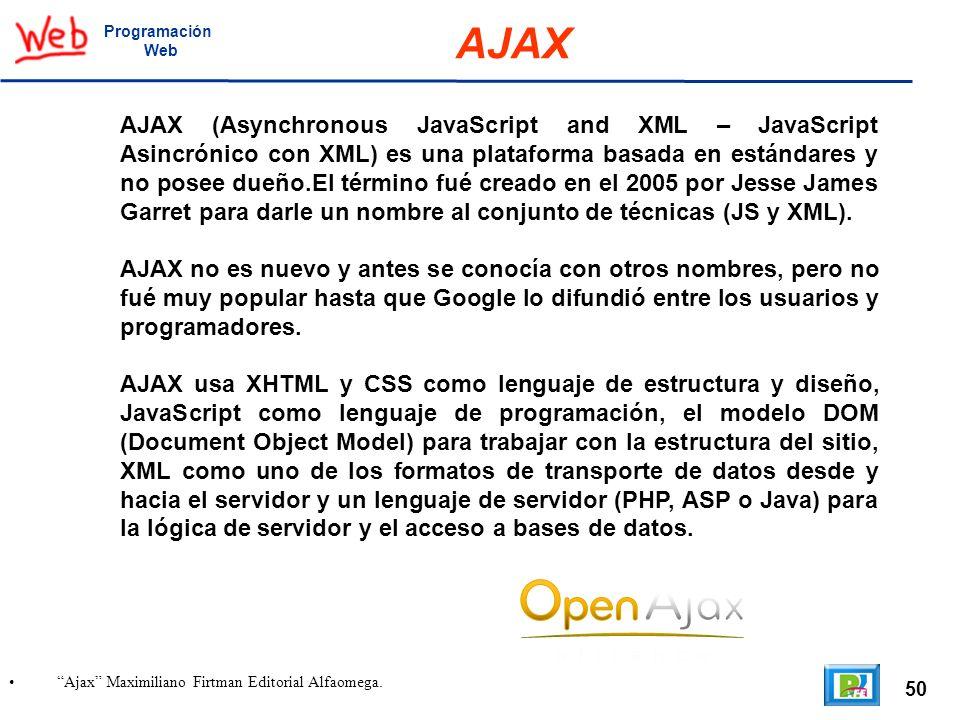 Programación Web. AJAX.