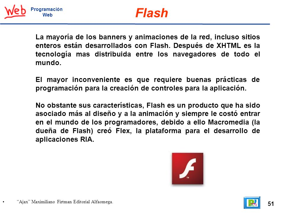 Programación Web. Flash.