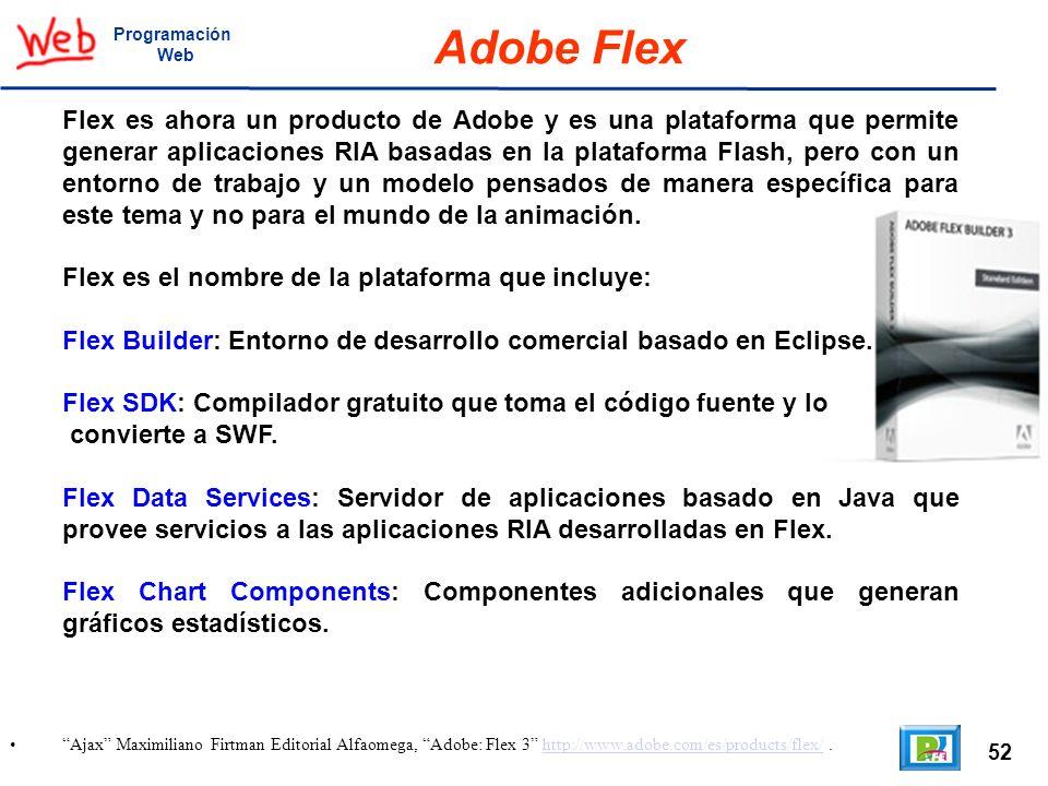 ProgramaciónWeb. Adobe Flex.