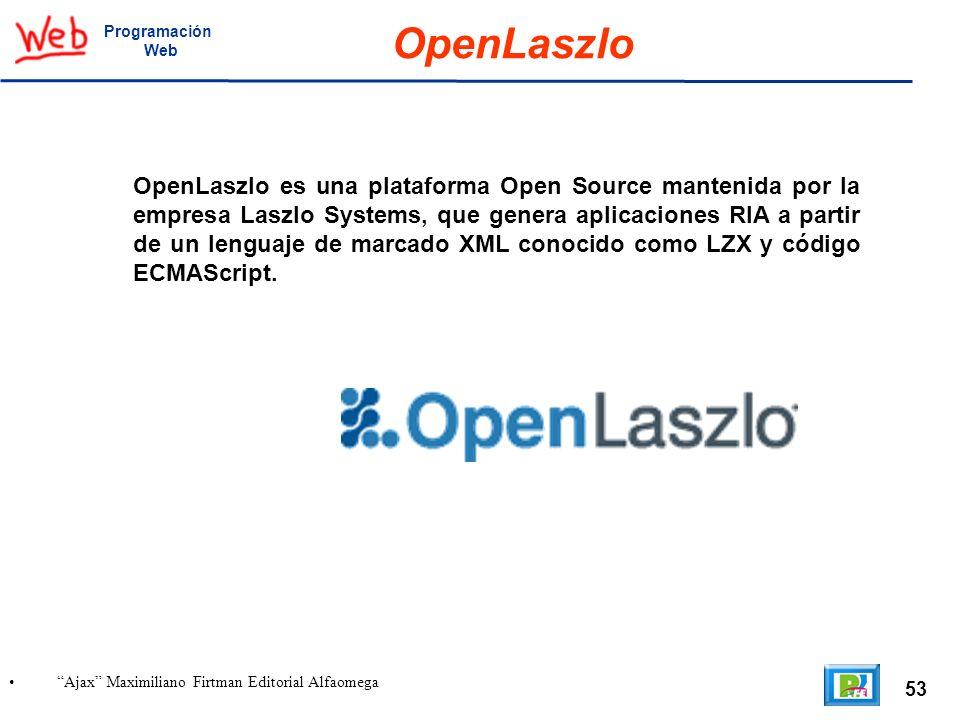 Programación Web. OpenLaszlo.