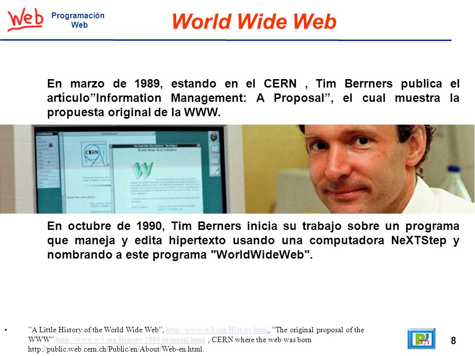 Programación Web. World Wide Web.