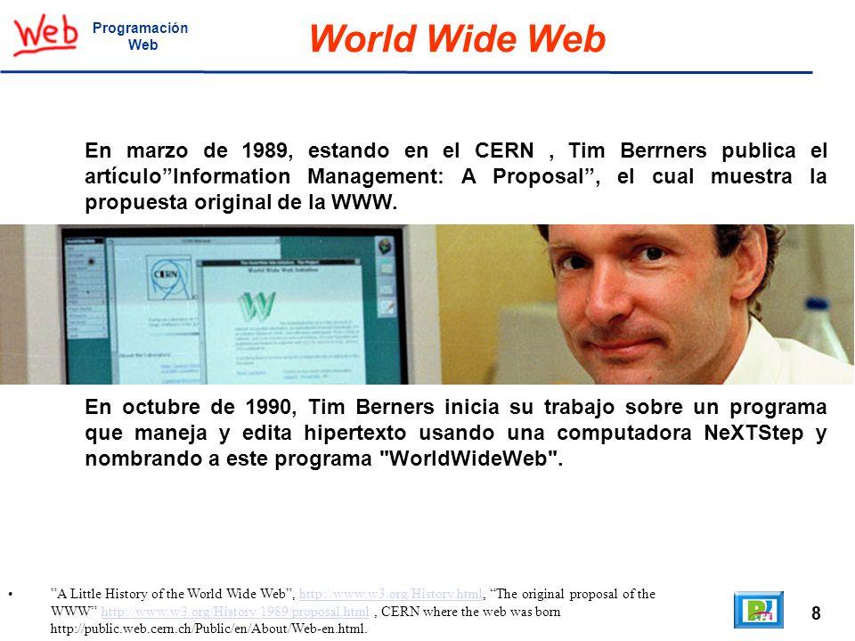 Programación Web. World Wide Web.