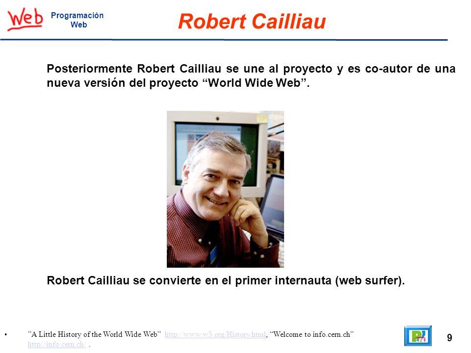 ProgramaciónWeb. Robert Cailliau.