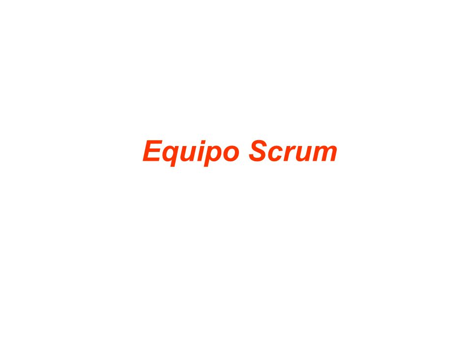 Equipo Scrum