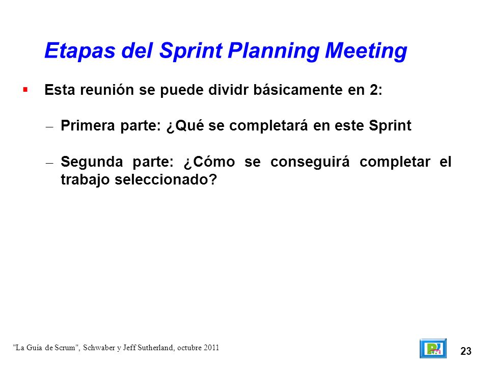 Etapas del Sprint Planning Meeting