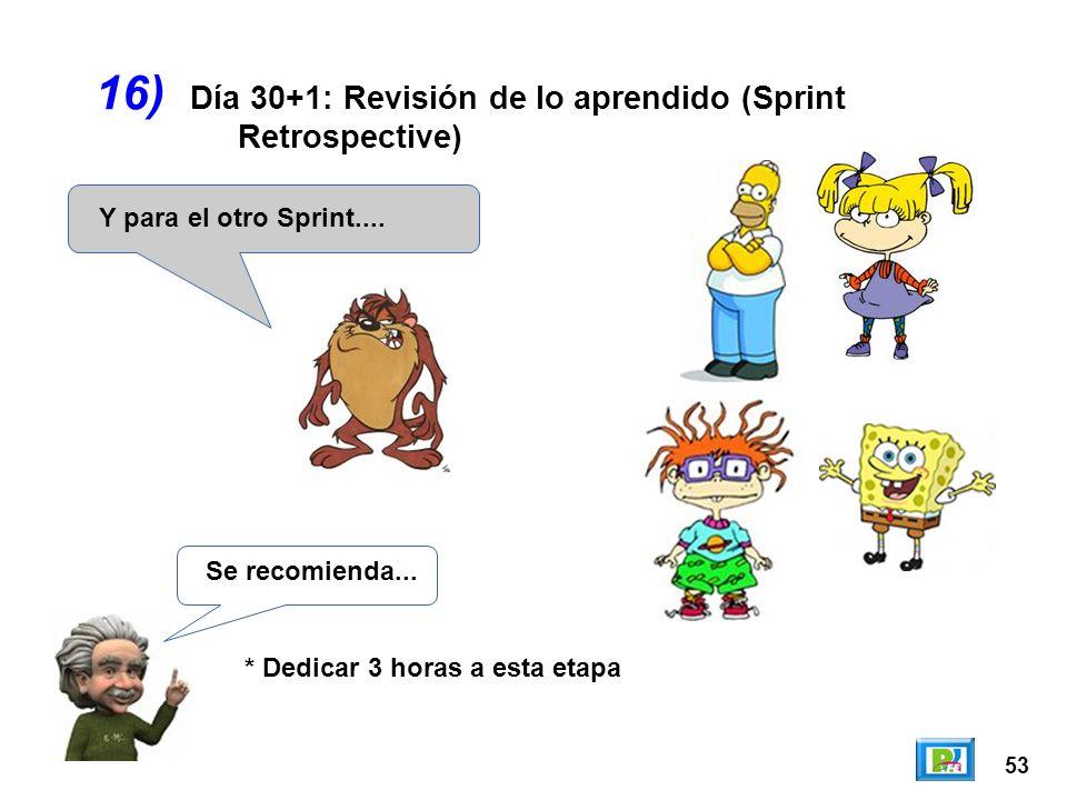 16) Día 30+1: Revisión de lo aprendido (Sprint Retrospective)