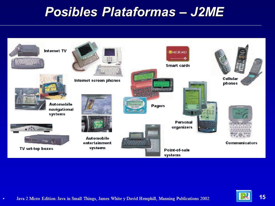Posibles Plataformas – J2ME