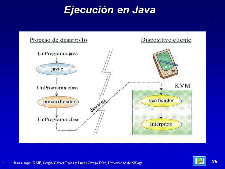 Ejecución en Java 25.