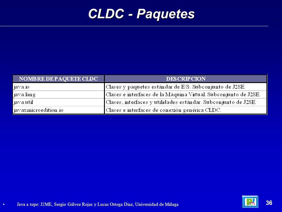 CLDC - Paquetes 36.