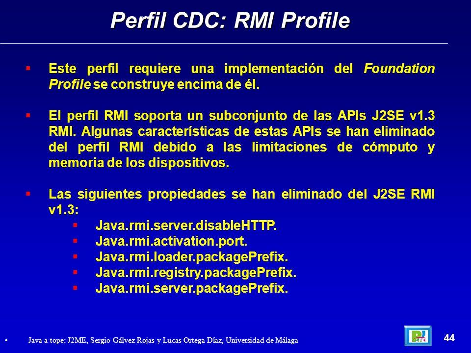 Perfil CDC: RMI Profile