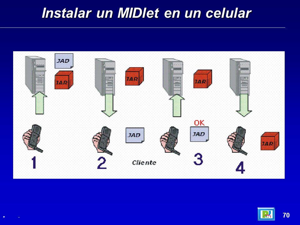 Instalar un MIDlet en un celular
