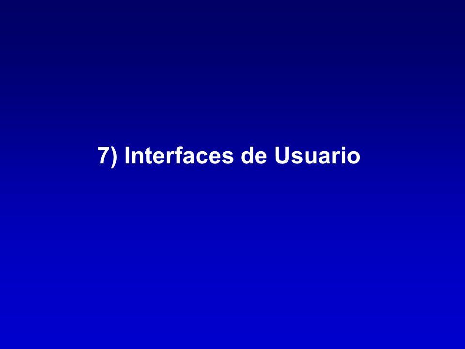 7) Interfaces de Usuario