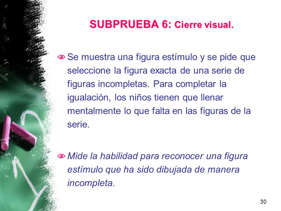 SUBPRUEBA 6: Cierre visual.