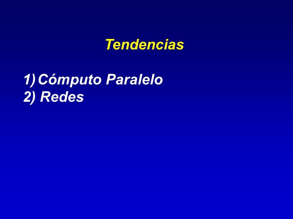 Tendencias Cómputo Paralelo 2) Redes
