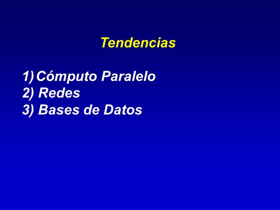 Tendencias Cómputo Paralelo 2) Redes 3) Bases de Datos