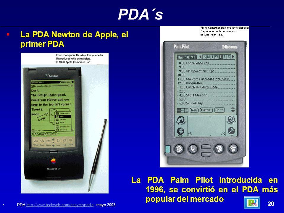 PDA´s La PDA Newton de Apple, el primer PDA