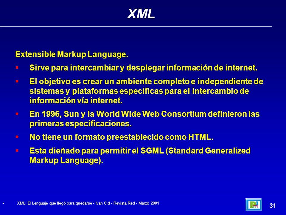 XML Extensible Markup Language.