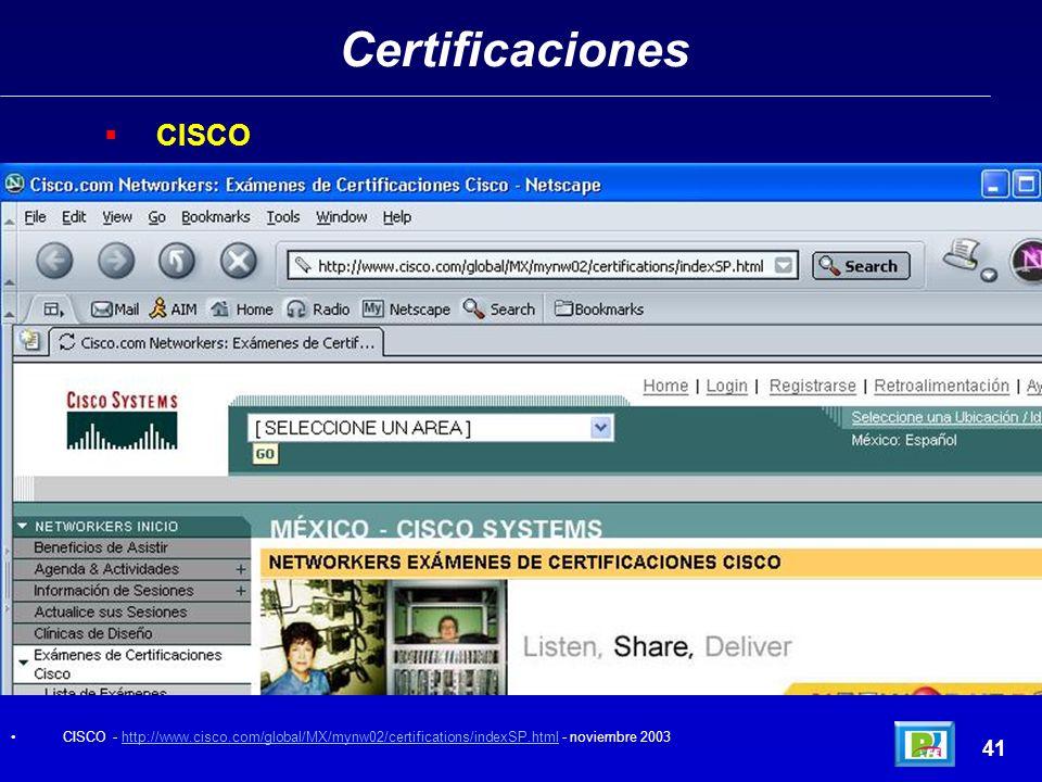 Certificaciones CISCO 41