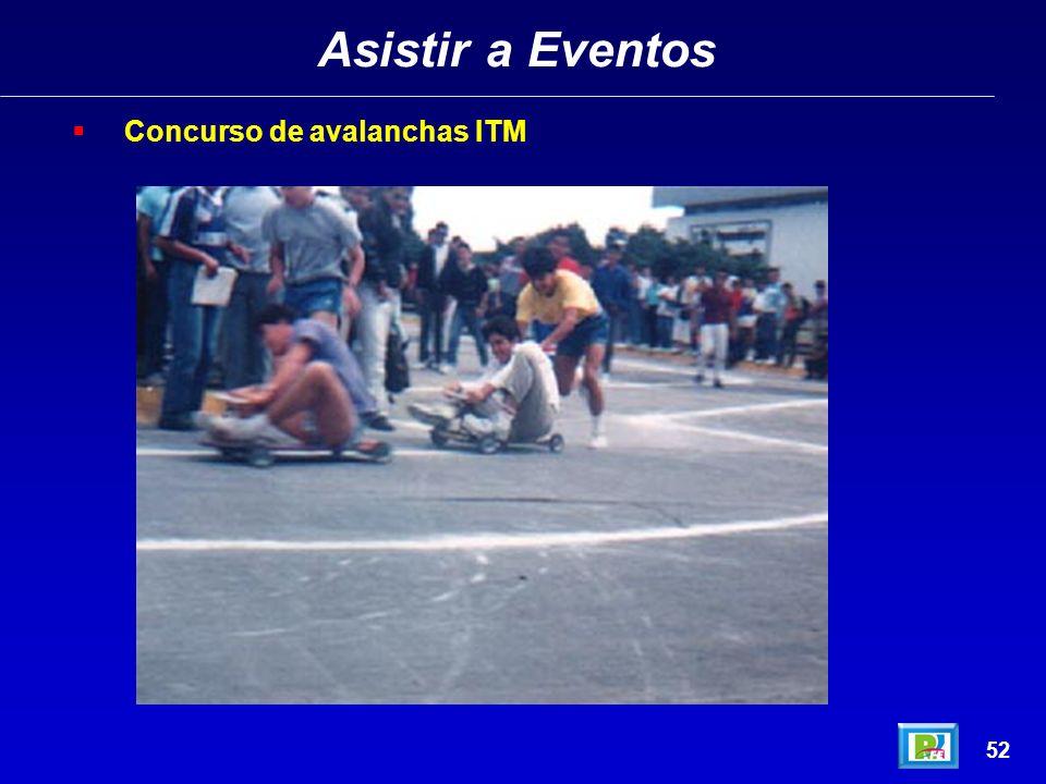 Asistir a Eventos Concurso de avalanchas ITM 52