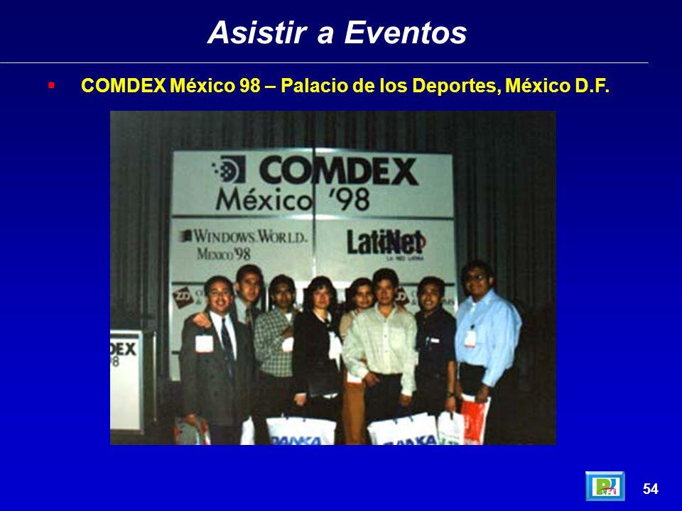 Asistir a Eventos COMDEX México 98 – Palacio de los Deportes, México D.F. 54