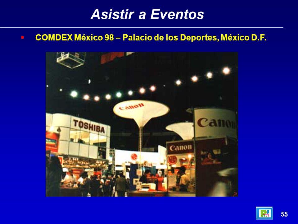 Asistir a Eventos COMDEX México 98 – Palacio de los Deportes, México D.F. 55