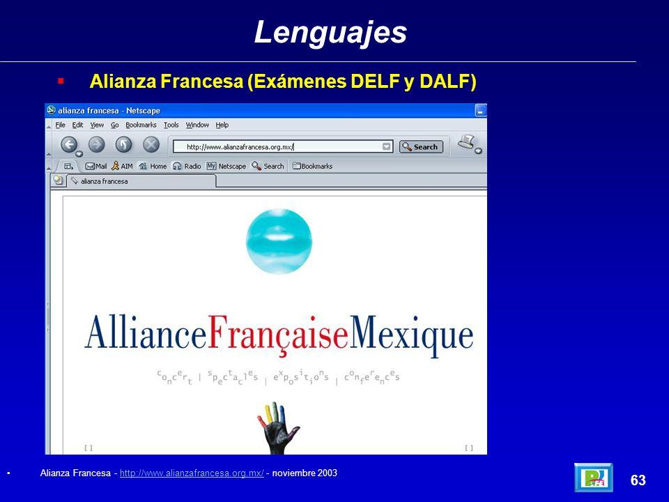 Lenguajes Alianza Francesa (Exámenes DELF y DALF) 63