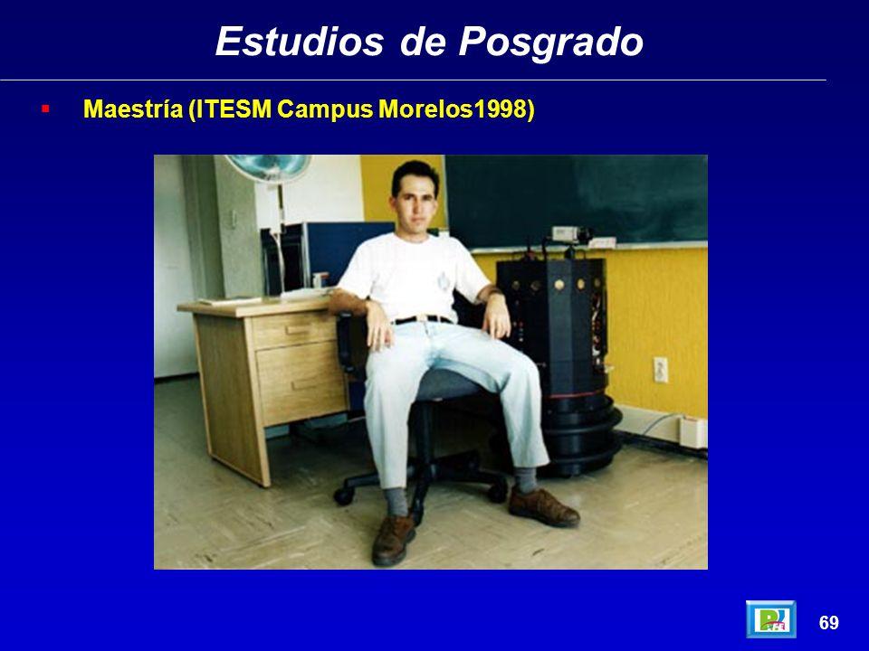 Estudios de Posgrado Maestría (ITESM Campus Morelos1998) 69