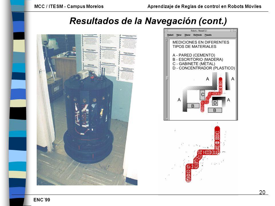 Resultados de la Navegación (cont.)