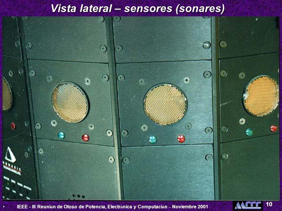 Vista lateral – sensores (sonares)