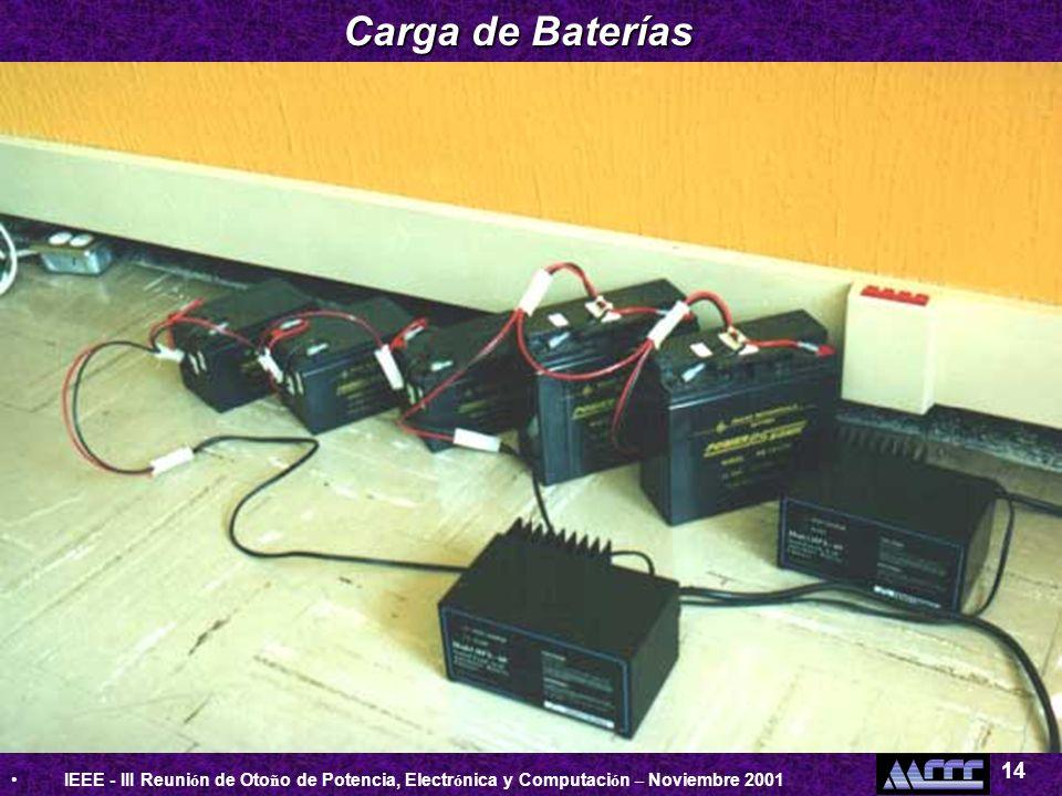 Carga de Baterías 14.