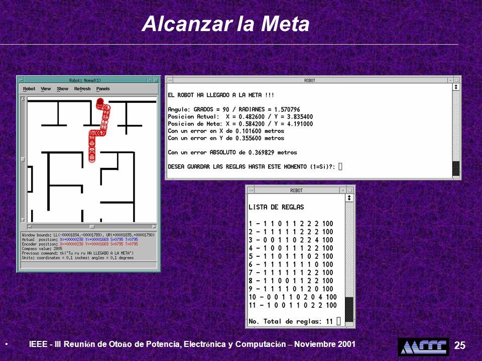 Alcanzar la MetaIEEE - III Reunión de Otoño de Potencia, Electrónica y Computación – Noviembre 2001.