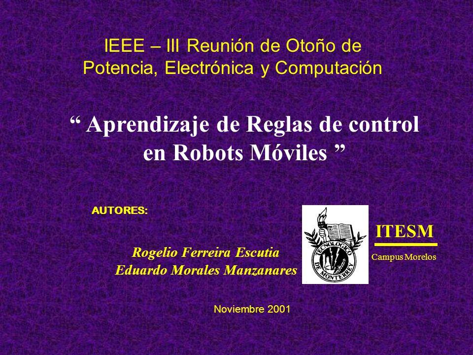 Aprendizaje de Reglas de control en Robots Móviles