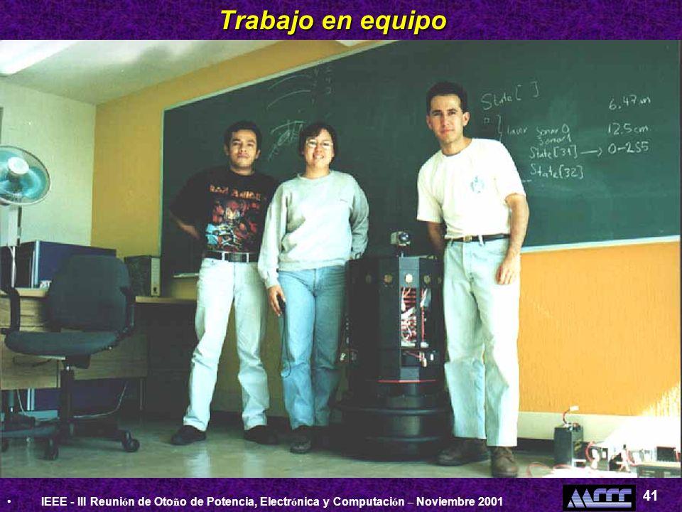 Trabajo en equipoIEEE - III Reunión de Otoño de Potencia, Electrónica y Computación – Noviembre 2001.