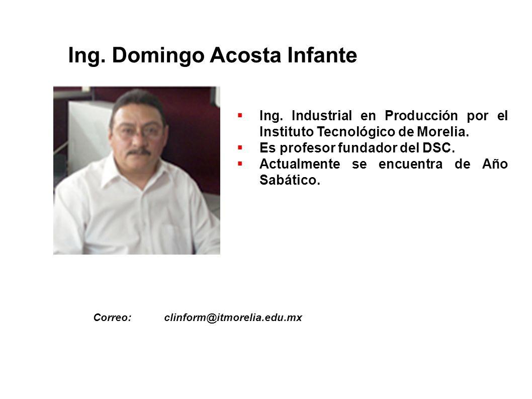 Ing. Domingo Acosta Infante