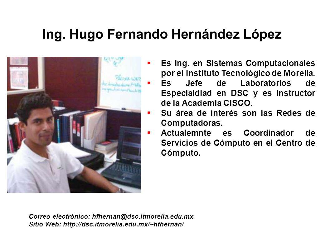 Ing. Hugo Fernando Hernández López