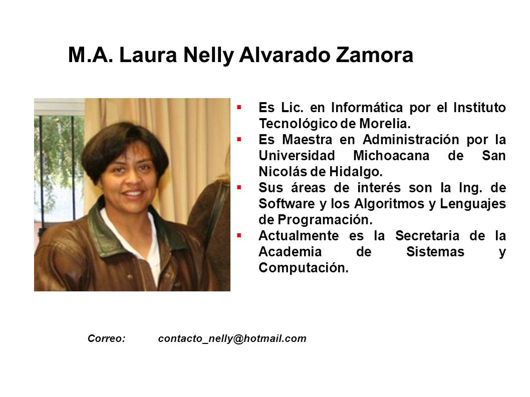 M.A. Laura Nelly Alvarado Zamora